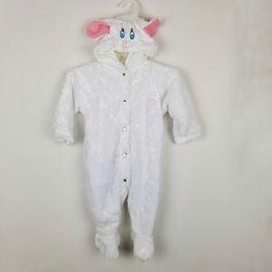 Eerie Alley Lamb One Piece Hooded Halloween Outfit